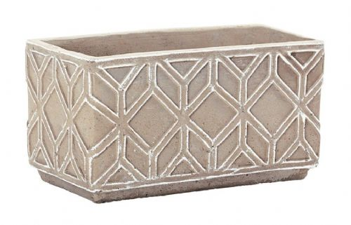 Ethnique Stoneware Planter Rectangle